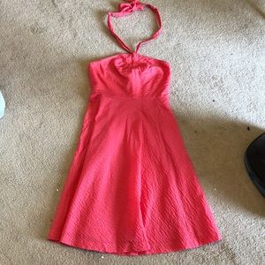 J. Crew Strapless Coral Dress